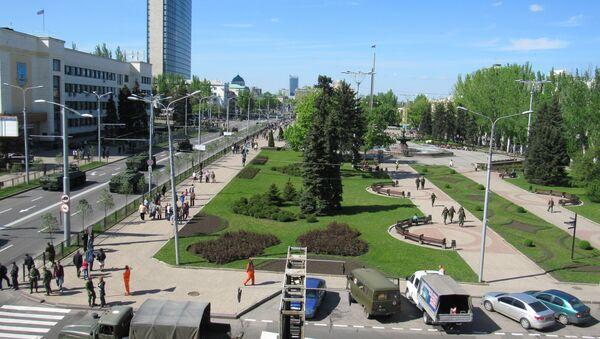 Donetsk, prima del 9 maggio - Sputnik Italia