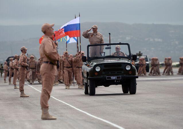 Giorno della Vittoria nella base russa di Hmeymim