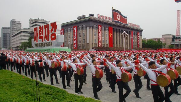 I tamburi alla manifestazione in Corea del Nord - Sputnik Italia