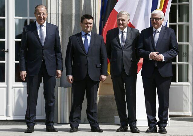 Quartetto della Normandia: i ministri degli Esteri di Russia, Ucraina, Francia e Germania