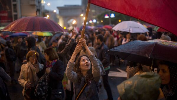 Manifestanti a Skopje, Macedonia - Sputnik Italia
