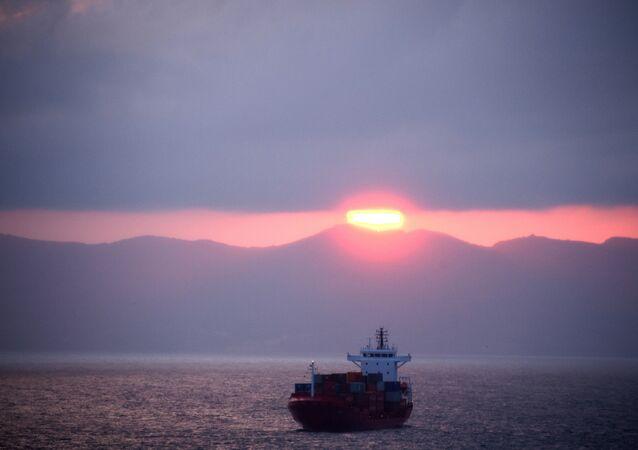 Una nave cargo tunisina