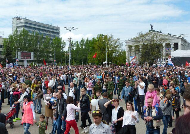 La folla durante la Parata