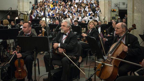 Al concerto dedicato al compleanno della metro di Mosca - Sputnik Italia