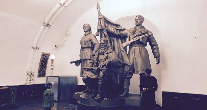 Un monumento nella metro di Mosca