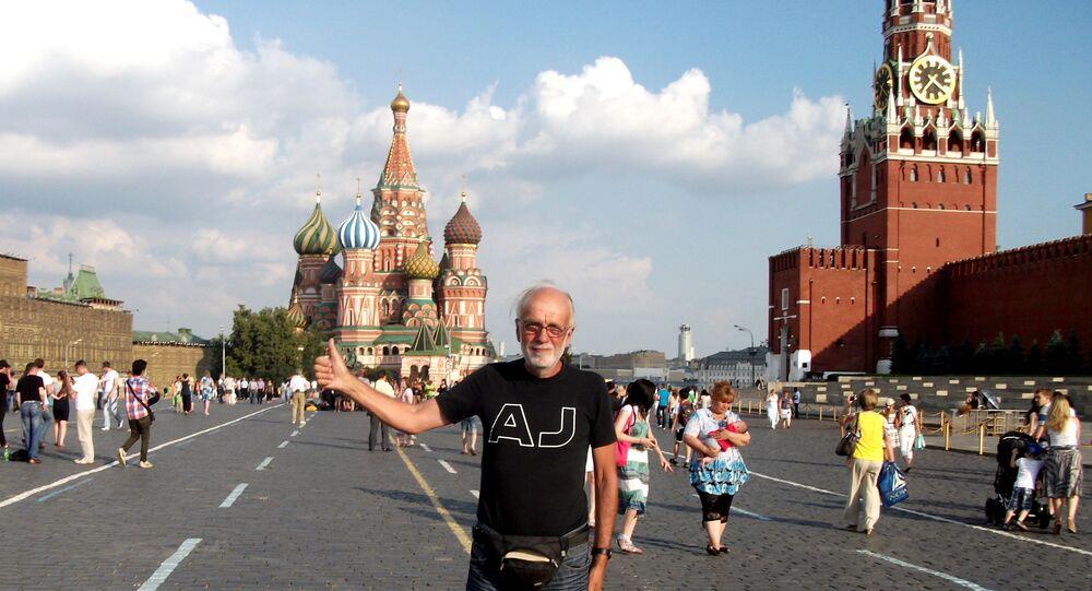 Pier Luigi Delvigo alla Piazza Rossa, Mosca