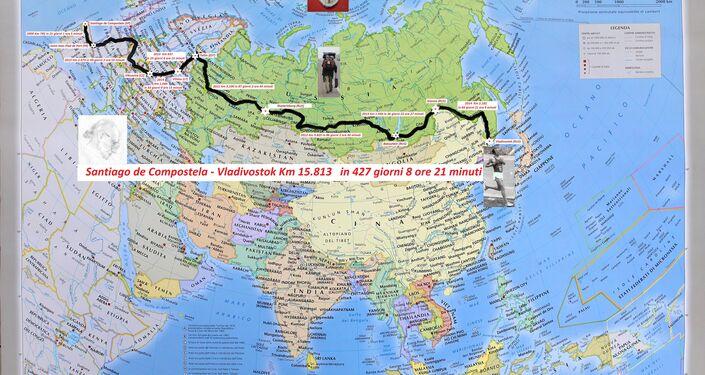 La mappa completa del viaggio