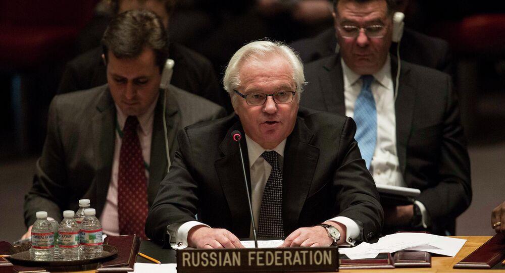 Rappresentante permanente della Russia all'ONU Vitaly Churkin