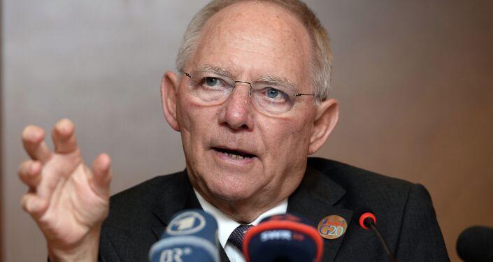 Wolfgang Schaeuble, ministro delle Finanze della Germania