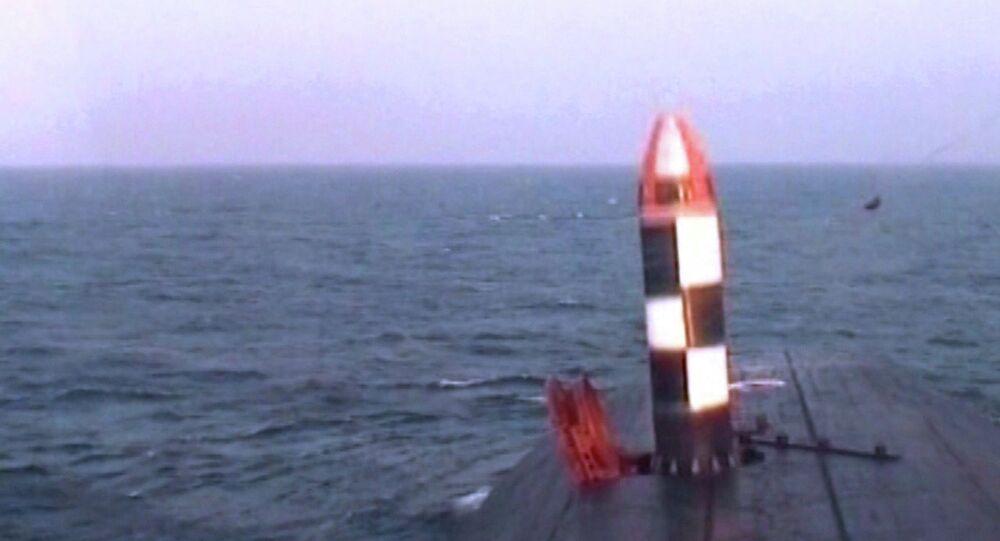 Missile intercontinentale russo Bulava (foto d'archivio)