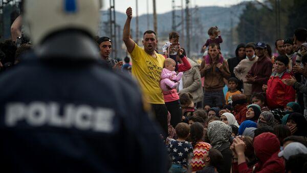 Migranti a Idomeni - Sputnik Italia