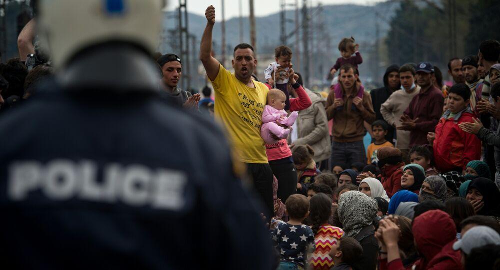 Migranti a Idomeni