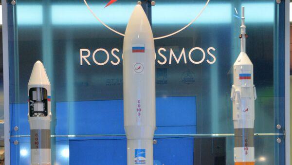 Stand di Roscosmos alla fiera aerospaziale di Farnborough nel 2014 (foto d'archivio) - Sputnik Italia
