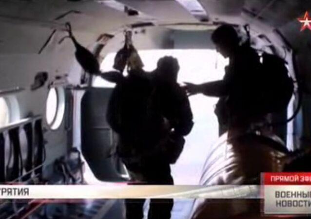 Aviolancio da bodro di un elicottero