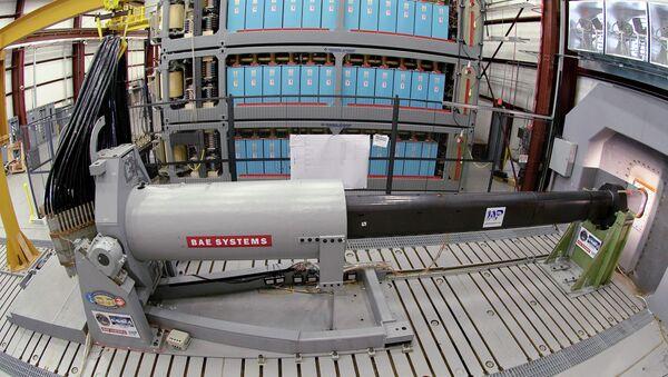 Naval Research-funded electromagnetic railgun - Sputnik Italia