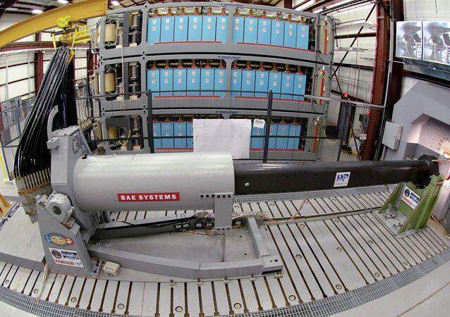 Prototipo di cannone a rotaia (Railgun)