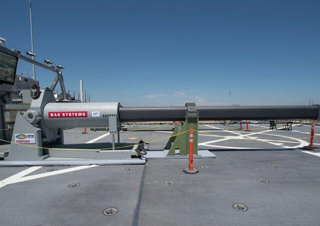 Prototipo di cannone a rotaia