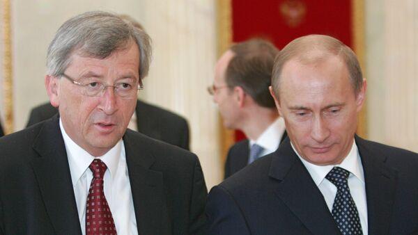 Vladimir Putin e Jean-Claude Juncker - Sputnik Italia