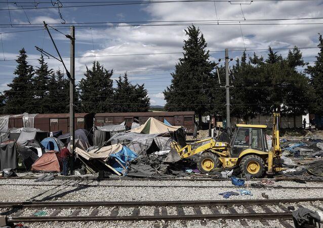 Sgombero del campo profughi a Idomeni