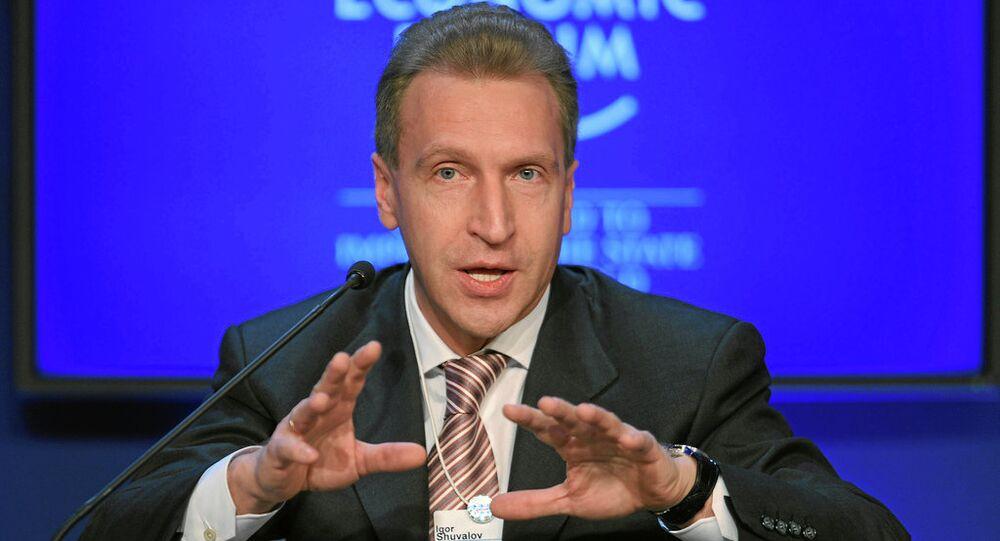 Vice premier russo Igor Shuvalov