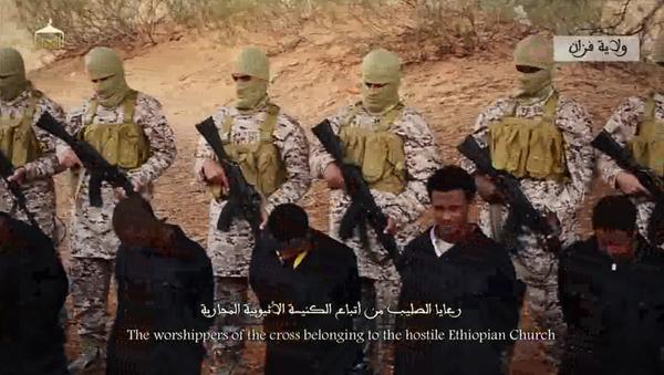 La esecuzione di 30 cristiani etiopi in Libia - Sputnik Italia