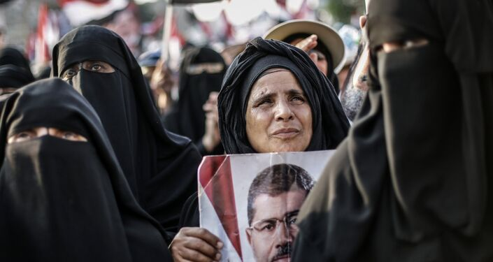 Le manifestazioni di appoggio  al ex-presidente Morsi a Cairo