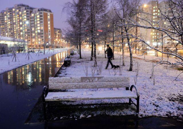 Pochi disagi e tanta sorpresa per l'ennesima nevicata a Mosca
