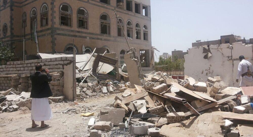 Sana'a, capitale dello Yemen martoriata dai bombardamenti