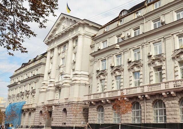 Quartiere generale dei servizi segreti ucraini (Sbu) a Kiev