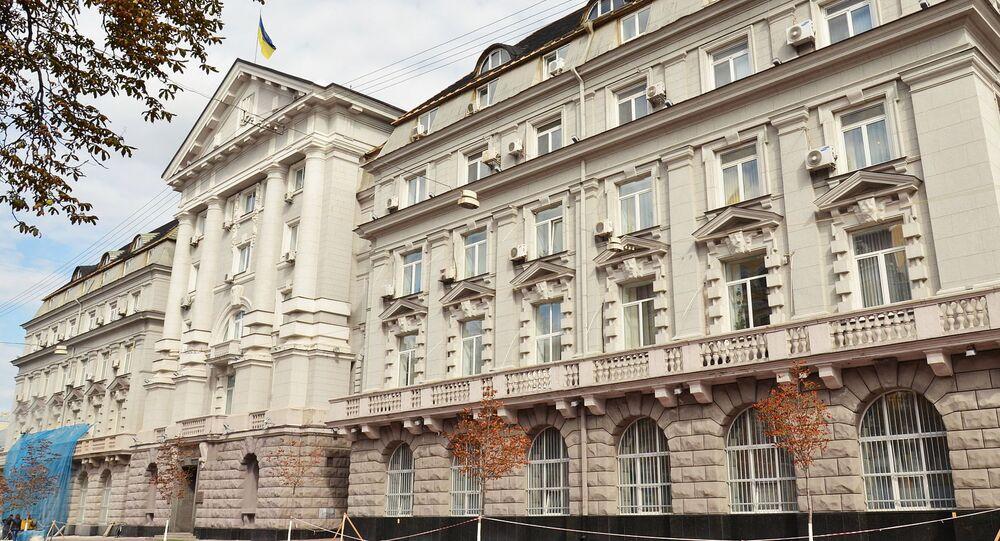 Il quartiere generale del servizio di sicurezza ucraino (Sbu) a Kiev