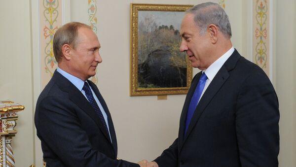 L`incontro del Presidente russo Vladimir Putin e Primo Ministro izraeliano Benjamin Netanyahu - Sputnik Italia
