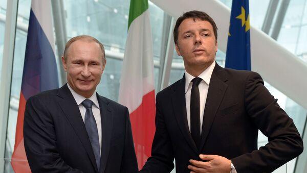 Vladimir Putin e Matteo Renzi - Sputnik Italia