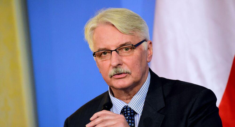 Il ministro degli Esteri della Polonia Witold Waszczykowski