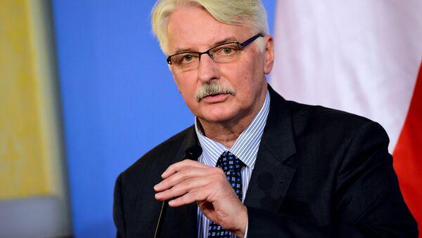 Il ministro degli Esteri della Polonia Witold Waszczykowski - Sputnik Italia