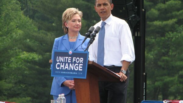 Obama, Clinton - Sputnik Italia