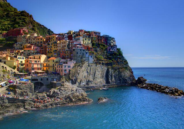 Manarola, Liguria, Italia.