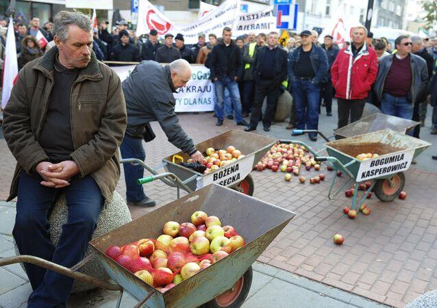 Agricoltori polacchi protestano a Varsavia