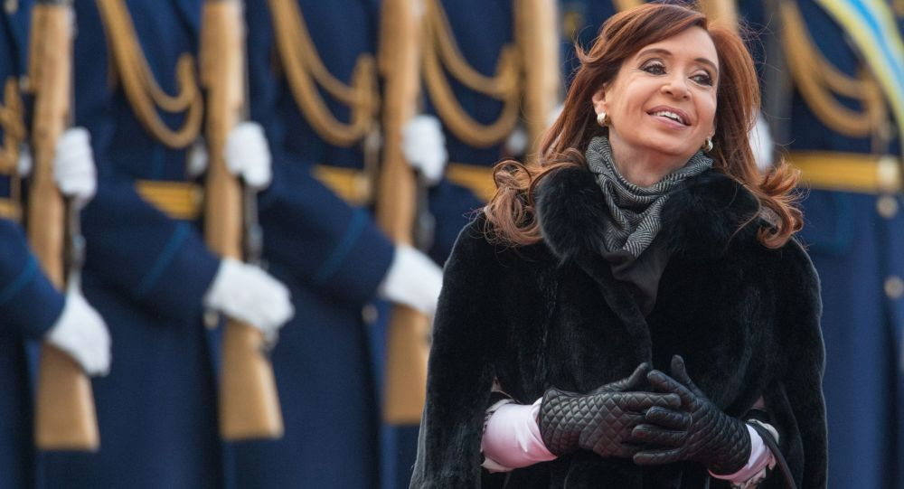 Presidente dell'Argentina Cristina Kirchner al suo arrivo a Mosca