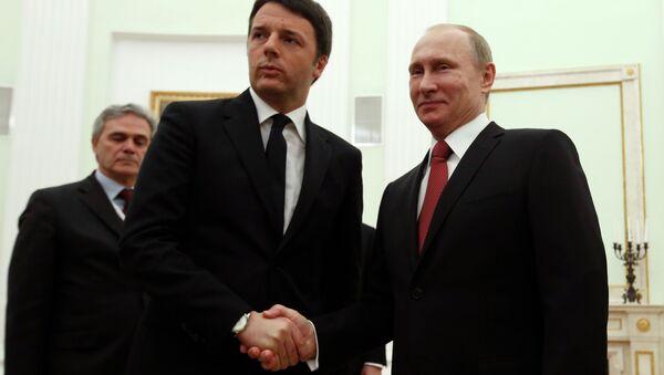 Putin, Renzi incontro - Sputnik Italia