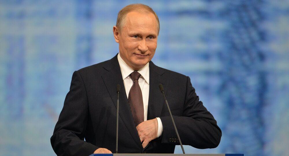 Vladimir Putin al Forum Internazionale di San Pietroburgo
