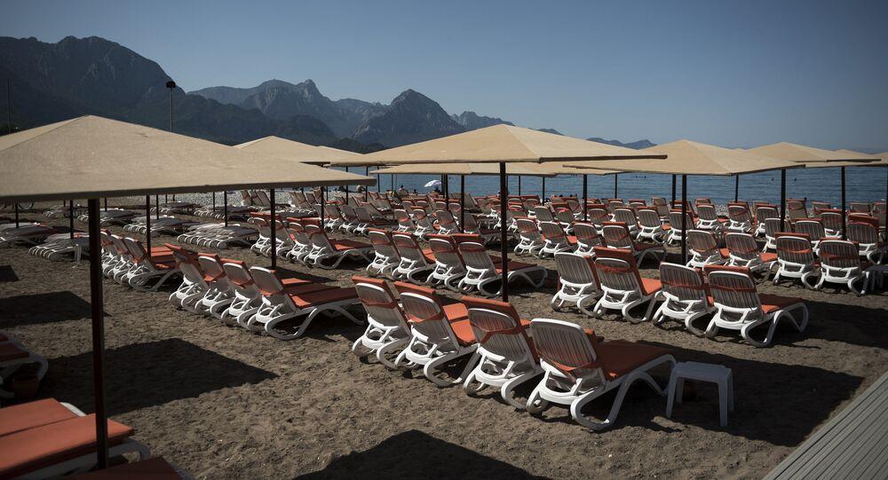 Spiaggia vuota in Turchia