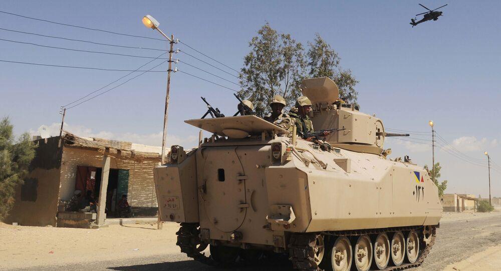 Mezzo blindato dell'esercito egiziano M113