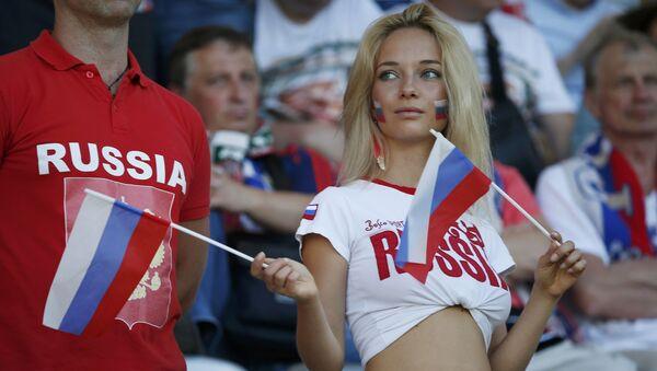 Una tifosa russa allo stadio di Tolosa - Sputnik Italia