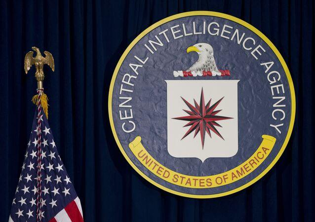 Bandiera USA e emblema CIA