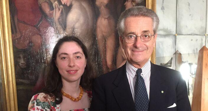 Antonio Zanardi Landi, Presidente della Fondazione Aquileia ed Ambasciatore d'Italia in Russia dal 2010 al 2013 ed inviato speciale di Sputnik Tatiana Santi