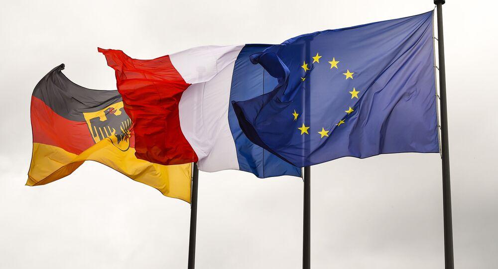 Bandiere di Germania, Francia e UE