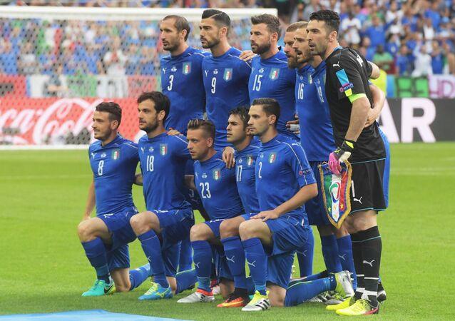 L' Italia che ha battuto 2-0 la Spagna