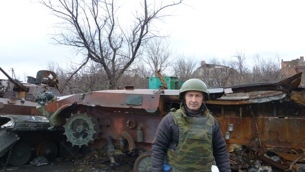 Eliseo Bertolasi a Zabunki (regione di Donetsk) - Sputnik Italia