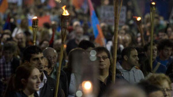 Marcia di commemorazione delle vittime del genocidio a Montevideo - Sputnik Italia