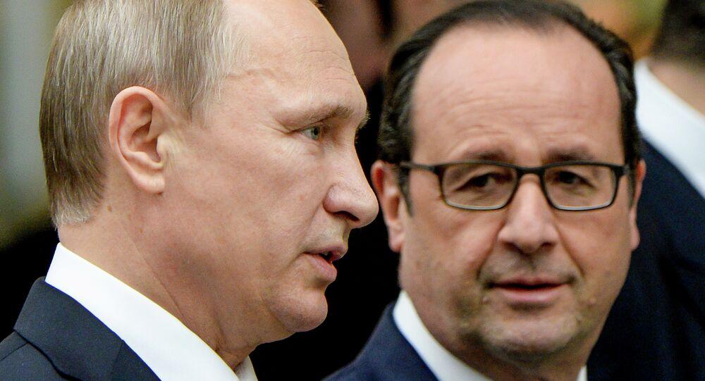 Vladimir Putin e Francois Hollande